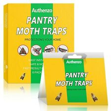 Authenzo Pantry Moth Traps, Premium Moth Traps with Pheromones Prime, Moth Ki...