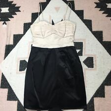 H&M Size 6 Little Black Dress Beige Body Con Cocktail Party Stretch