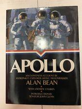 Apollo Book Signed Autographed by Moonwalker Alan Bean NASA 1st/1st HC/DJ