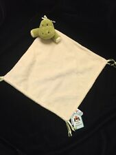Jellycat Chime Chums Dinosaur Cream Green Blanket Soother Comforter Lovey New