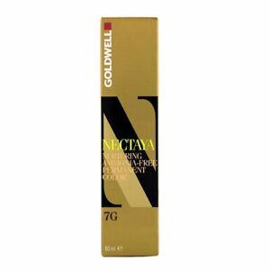Goldwell Nectaya Permanent Hair color, 7g Hazel, 2.03 Oz, 2.03 ounces