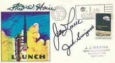 Apollo 13 Brief  11.4.1970 Original Autogramme J. Lovell, J. Swigert, F. Haise