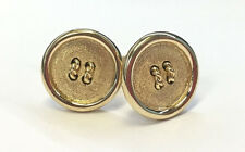 Cartier 18k Yellow Gold Button Cufflinks