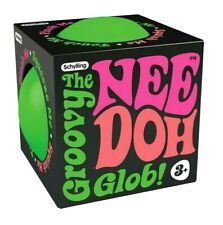 """Nee Doh Stress Ball GREEN Color GROOVY GLOB Schylling 2.5"""" Squeeze Toy"""