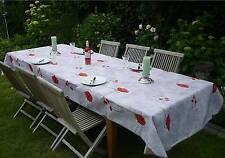 Tischdecke Provence 150x300 cm hellgrau aus Frankreich, pflegeleicht, bügelfrei