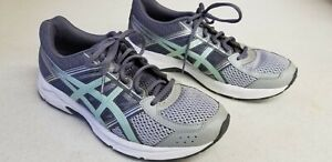 Asics Gel-Contend 4 T765N Women's Running Shoes Size 9.5 gray and mint
