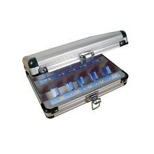 Coffret de 10 mèches droites carbure pour défonceuse queue 8 mm