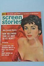 Vintage Dell Screen Stories Magazine ~ Elizabeth Taylor ~ July 1961