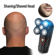 5In1 4D Electric Rechargeable Razor Shaver Cordless Trimmer Bald Head Waterproof