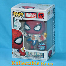Marvel Spiderman With Pizza I Love Pi Shirt 672 Pop Vinyl Funko