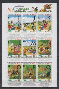 V838. Mali - MNH - Cartoons - Disney's - Alphabet - I To Q