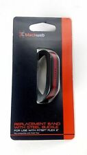 Fitbit Flex 2 Accessory Band with Adjustable Buckle- FF Black/Thin Red Line New