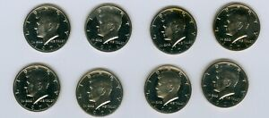 1971 KENNEDY HALF LOT 8 COINS