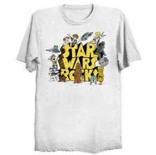 Star Wars Rocks Jawa Luke Skywalker Leia Han as Schoolhouse Rock White T-Shirt