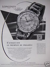 PUBLICITÉ 1959 LONGINES CONGUEST AUTOMATIC MONTRE SUISSE - ADVERTISING