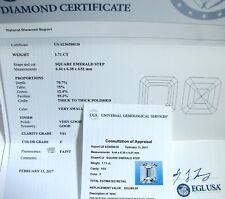 1.71 CT SQUARE EMERALD CUT DIAMOND F VS1 CERTIFIED $23,080.00