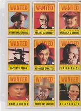 Dick Tracy - Complete Sticker Card Set (11) - 1991 Topps - NM
