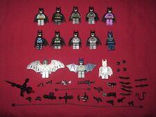 LEGO Batman minifigures LOT Blue,Gray,Light Gray,Scuba,Arctic,Electro Batman +