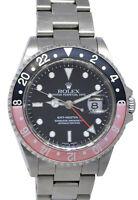 Rolex GMT-Master II Steel Red/Black Coke Bezel Mens 40mm Watch Unpolish A 16710