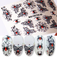 6D Stickers Various Spider Pattern Embossed Decals Lavender Nail Art Decoration