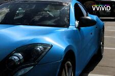 VViViD Brushed Blue Aluminum Vinyl car Wrap 50ft x 5ft decal 3mil slidable film