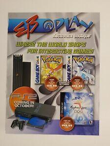 Original Retro 2000 EB Games PS2 Pokemon Gold & Silver system & games ad