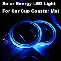 Solar Cup Pad Car Auto Accessories LED Light Cover Interior Decoration Light bnj