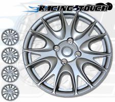 "4pcs Set 14"" Inches Metallic Silver Hubcaps Wheel Cover Rim Skin Hub Cap #533"