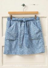 NWT MATILDA JANE Blue Mixed Print Paisley Skirt Womens ~ XS NEW