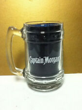 NOS Captain Morgan Spiced Rum Heavy Tankard Glass Cocktail Mug Made in Italy TE6