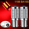 2x 1156 BA15S 33 LED 5730 SMD Bright Red Car Light Bulb Backup Reverse Lamp