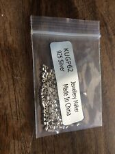 925 Sterling Silver Crimp Tubes approx 1.5 x 1mm pack of 200 pieces Jewellery
