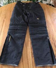 DESCENTE Padded Racing Men's Ski Pants Size 32R Waist Black