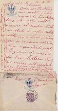 b217-LETTERA+BUSTA  CON LOGO DELL' GENOVA CAVALLERIA -ANNO'29