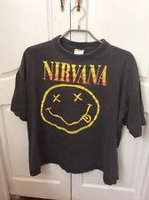 Nirvana Vintage Smiley T Shirt XL Used Rare? Yellow And Orange Writing