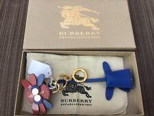NWT Burberry Leather Owl Padlock & Key Purse Charm Key Fob Keychain ~ CUTE