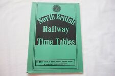 1921 North British Railway Passenger Timetable Reprint