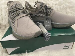 Puma Men's Tsugi Netfit v2 in Elephant skin/Quarry/Shadow, Sz 12