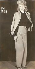 Org Vintage 1940s-50s Semi Nude Sepia RP- Blond- Pant Suit And Jacket- Sandals