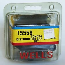 Brand New Wells Toyota 15558 Distributor cap and rotor kit in package Celica