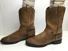 VTG WOMENS ARIAT ATS WESTERN ROPER BROWN BOOTS SIZE 8 B