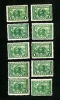 US Stamps # 397 F-VF Lot of 10 OG NH Scott Value $350.00
