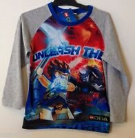 NEW Boys Licensed Lego Chima Long Sleeve Top - Size 5
