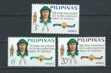 PHILIPPINES ,1966 , GIRL SCOUTS , SET OF 3 ,  PERF,  MNH