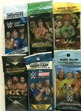 2017,2018 & 2019  TOPPS WWE FAT  PACK COMBO ( 6 PACK LOT )