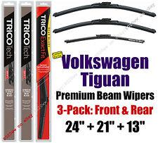 Wipers 3-Pk Premium Front Rear - fit 2009-2017 Volkswagen Tiguan - 19240/210/13G