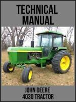 John Deere 4030 Tractor Technical Manual TM1055 USB Drive