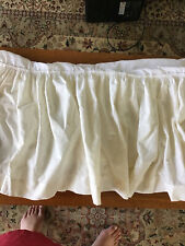 New listing Off White Gathered Bed Skirt Dust Ruffle 14.5� Drop Size Full Double Bed