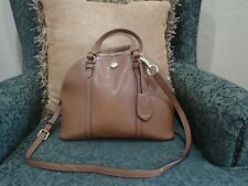 Coach Peyton Brown Leather  Domed Crossbody Bag F25671