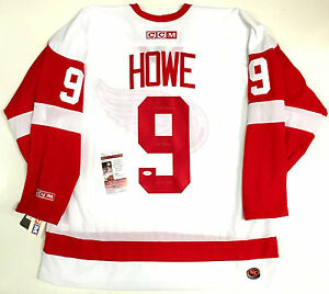 "GORDIE HOWE SIGNED DETROIT RED WINGS JERSEY ""MR. HOCKEY"" ""HOF 1972"" INSC JSA COA"